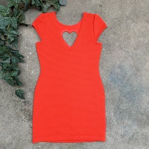 Urban Outfitters Dresses - UO Cooperative Heart Cutout Textured Knit Dress